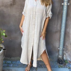 Skovbjerg Collection Lang Hoer Kaftan Sand