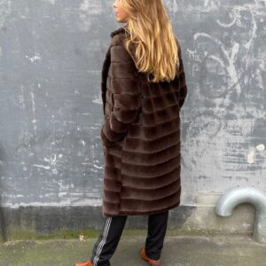 By Dreams Ophelia Faux Fur Chocolate Brun Frakke