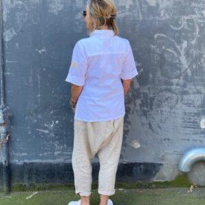 Humble Kelsey Skjorte Hvid Bagfra
